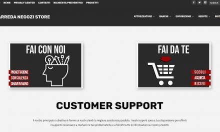 E' online il sito di Arreda Negozi Store